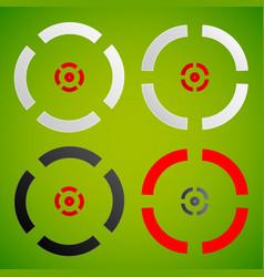 Cross hair reticle target mark elements vector