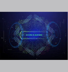 cyberspace virtual reality in hud style abstract vector image