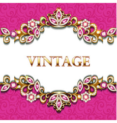 decorative volumetric vintage background frame vector image
