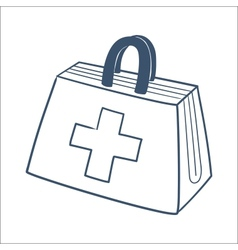 Doctors first aid kit isolated on white vector image