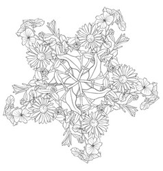 drawing leaves vector image