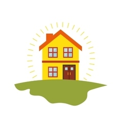 Exterior cute house icon vector