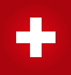 first aid icon on red background vector image