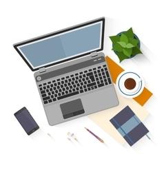 Flat design mockup per office workspace vector image