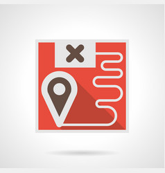Freight transportation route flat icon vector