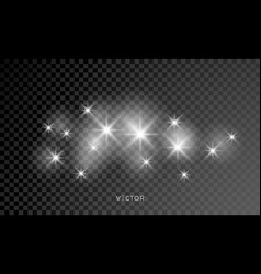 Glowing star lights effect explosion and stars vector