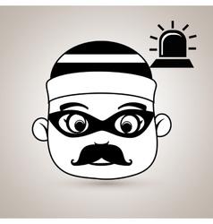 Hacker security alarm siren vector