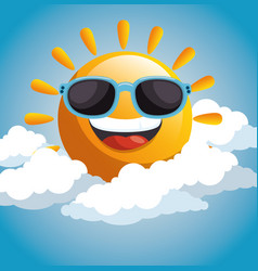 Happy sun design vector