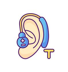 Hearing loop rgb color icon vector
