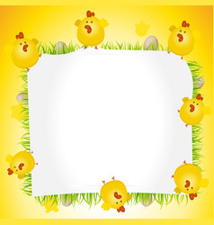 Holidays easter chicken poster vector