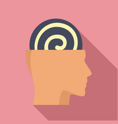 Human mind hypnosis icon flat style vector