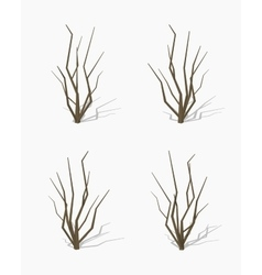 Low poly dried tree vector image