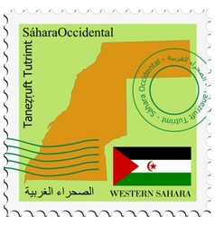 mail to-from Western Sahara vector image vector image