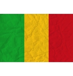 Mali paper flag vector image