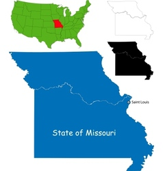 Missouri map vector image