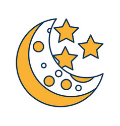 natural satellite moon icon vector image
