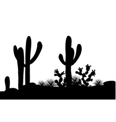outline mexican landscape vector image