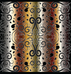 paisley gold seamless pattern vector image
