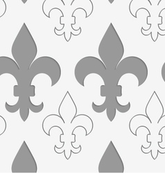 Perforated countered and solid Fleur-de-lis vector
