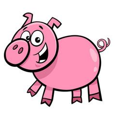 Pig or piglet character cartoon vector