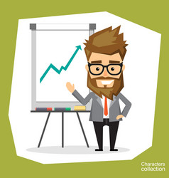 Presentation on flip chart paper vector