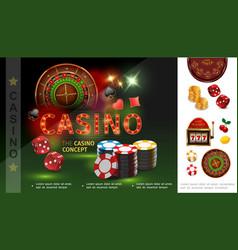 realistic casino concept vector image