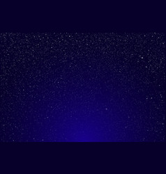 Realistic starry sky blue glow shining stars vector