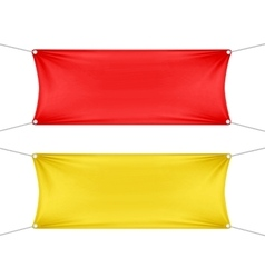 Red and yellow blank empty horizontal banners vector
