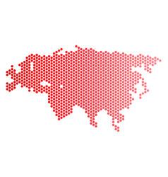 Red dot eurasia map vector