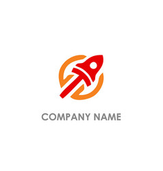 rocket lauch logo vector image