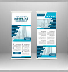 Roll up banner vector