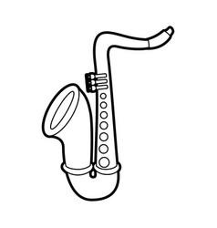 saxophone jazz instrument musical festival vector image