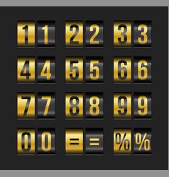 Scoreboard numbers vector
