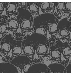 Seamless cool black skull tattoo pattern vector