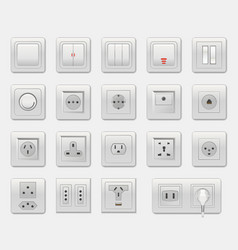 set of different switches vector image