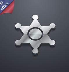 Sheriff star icon symbol 3D style Trendy modern vector