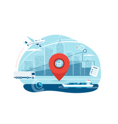 shipping logistic supply chain vector image