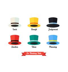 Six thinking hats idea vector