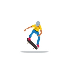 Skateboarder man jumping sign vector image