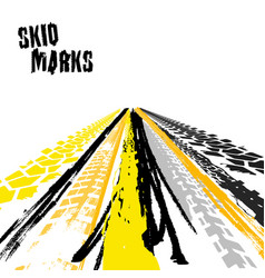 skid marks vector image