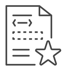 star security document icon outline style vector image