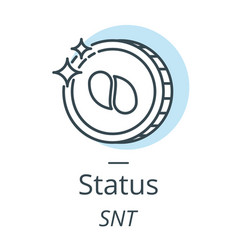 Status cryptocurrency coin line icon of virtual vector