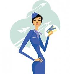 Stewardess vector