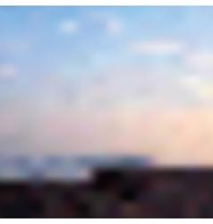 Sunset on the sea vector