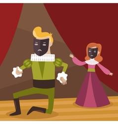 theatre scene vector image