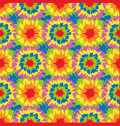 Tie dye circle star shapes seamless pattern vector
