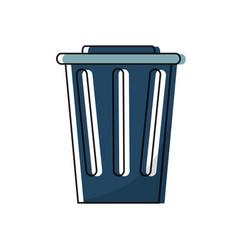 Trash bucket icon vector