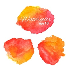 Watercolor stains set vector