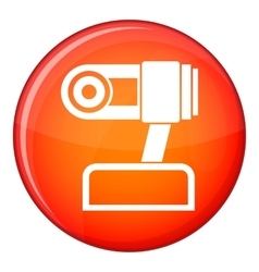 Webcam icon flat style vector