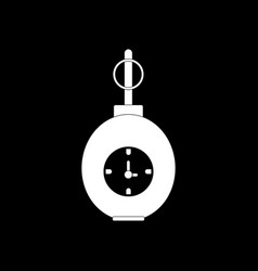White icon on black background military grenade vector